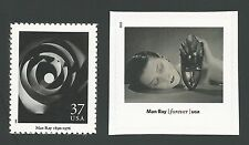 Man Ray Spiral Maze Rayograph & Noire et Blanche Kiki African Mask Photo Stamps!