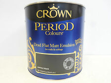 Crown Period Colors - Dead Flat Matt Emulsion - Penny Black - 2.5 Litres