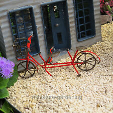Miniature Fairy Garden Tandem Bicycle, Red