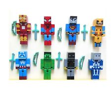 Minecraft Toys Action Figures 8pcs/set Game Plastic Miner