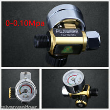 Universal Metal Spray Gun Air Pressure Regulator Gauge 0-0.10Mpa G1/4 Adjustable
