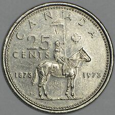 CANADA 25 CENTS 1973 -Centennial of the RCMP -circulated