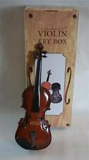 Violin 3D sculptured 35cm Key Box Free Standing Musician Violinist Music Gift