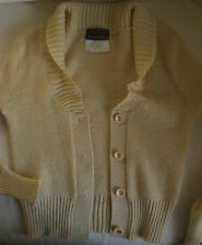 Harold Ingram Long Sleeve V neck with ribbed roll collar Cardigan  c1970's