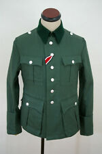 WWII German M36 officer summer HBT reed green field tunic S