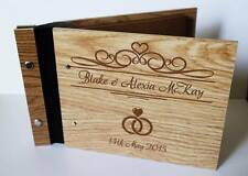 Wedding guest book wooden book unique rustic party photo book A4 large book