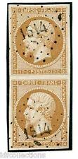 France Napoléon paire du N°13B oblitération petits chiffres 1514 l'hermenault