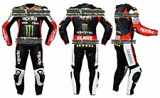 Aprilia Motorbike Motorcycle Leather track racing 1 & 2 piece Suit tailor made