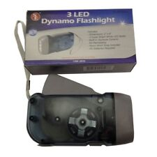 3 LED Dynamo Flashlight Emergency Prep Camping Hiking No Batteries Ready Light