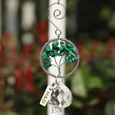 Green Rainbow Handmade Suncatcher Crystal Stone Prism Ball Pendulum Pendant 30mm