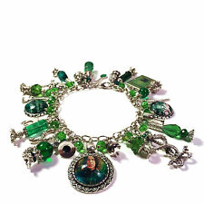 Harry Potter Snape Potions Master Alan Rickman Glow in the Dark Charm Bracelet