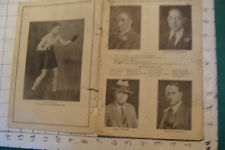 vintage 1928 BOSTON GARDEN SCHEDULE BOOK--boxing & hockey