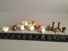 BIG LOT ANTIQUE miniature 19th -early 20th century doll house porcelains  +MORE