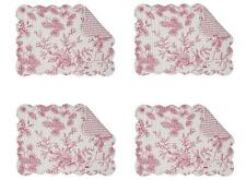 C F Evergreen Toile Christmas Holiday Rectangle Placemats, Set of 4