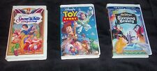 Snow White and the Seven Dwarfs, TOY STORY, SLEEPING BEAUTY VHS SET OF 3