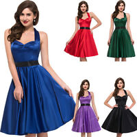 1950's 1960's Swing Tea Party PROM Cocktail Evening Dresses Size S-XL