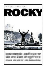 Rocky Poster! Sports film Sylvester Stallone American Dream Boxing Man cave Dorm