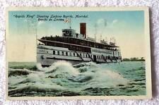 POSTCARD RAPIDS KING STEAM SHIP SHOOTING LACHINE RAPIDS MONTREAL CANADA #C7