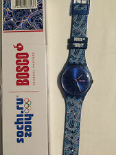 Swatch Special ' Bosco Blue ' New Gent SUON701E Sochi Olympic WinterGames 2014