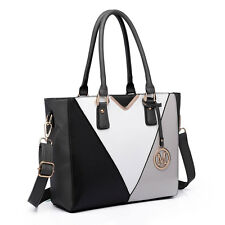 Women Designer Handbag Structured V-Shape Shoulder Fashion Tote Bag Satchel
