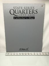 State Series Quarters 1999-2008 Collector's Map by H.E. Harris Unused