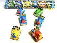 6 x treni giocattolo Set, tirate indietro azione di potenza, verde, giallo e blu colori ty1248