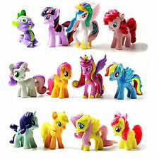 pony 12 Pcs My Little horse Cake Toppers PVC Action Figures Kids Toys Toy Doll -