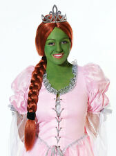 Princesse fiona perruque & queue de cheval-shrek robe fantaisie-halloween
