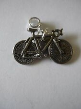 Bicycle Racer Road Bike W24 Charm with 5mm Hole fit Pendant Charm Bracelet
