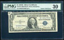 "FR. 1614 1935-E $1 SILVER CERTIFICATE ""GUTTER FOLD ERROR"" PMG VERY FINE-30"