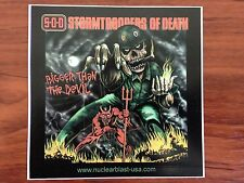 STORMTROOPERS OF DEATH - STICKER/DECAL - BRAND NEW VINTAGE - MUSIC BAND 620