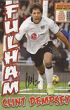 FULHAM: CLINT DEMPSEY SIGNED A4 (12x8) MAGAZINE PICTURE+COA