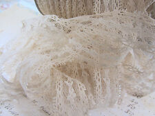 "10 yards Natural Beige 1"" Vintage Pattern Design Lace Ribbon/Craft/Trim/Bow T126"
