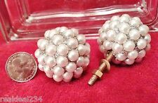 """NEW 6 Pearl Bling 1 3/4""""  Ball Knobs Pull Handle Cabinet Retro Hardware Drawer"""