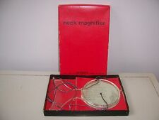 Vtg Neck Magnifier Magnifying Glass Hoffritz Made In Japan For Hands Free Sewing