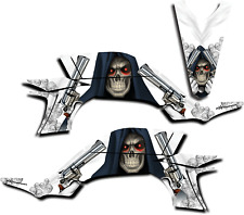 YAMAHA YFZ450 GRAPHICS DECAL KIT GRIM REAPER REVENGE YFZ 450 2003-2013 WHITE