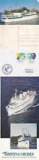 FINNISH CRUISE SHIP MS KRISTINA BRAHE SHIPS CACHED COVER POSTCARD & INFO SHEET
