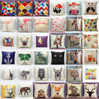 Animals Pattern Pillow Case Cotton Linen Sofa Cushion Cover Fashion Home Decor