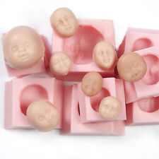 Silicone Doll Baby Face Mold Collection Fondant Flower Paste Sculpey Fimo (235)