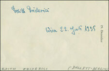 EDITH FRIDERICI - SIGNATURE(S) 07/22/1958 CO-SIGNED BY: MICHAEL EGNER