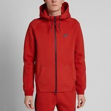 NIKE TECH FLEECE AW77 WINDRUNNER 1MM HOODIE RED SIZE LARGE BRAND NEW