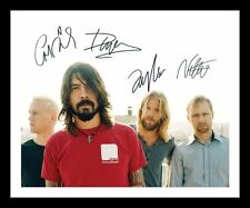 FOO FIGHTERS AUTOGRAPHED SIGNED & FRAMED PP POSTER PHOTO