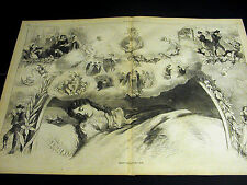 St. Saint Valentine's Eve Day 1869 VICTORIAN LADY DREAMING Cupids Large Print