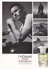 ANNONCE PUBLICITAIRE - ADVERTISING - COUPURE MAGAZINE YSL L'HOMME SPORT PARFUM