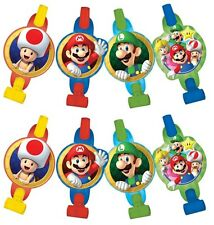 Super Mario Brothers Blowouts (8) Birthday Party Supplies Noisemaker Decorations