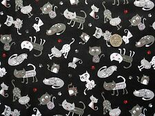 Cats Cattery fabric fat quarter 50x56 cm Nutex 89350-1 100% Cotton