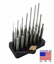 Grace USA 21pc Gunsmith Steel Punch Set Gun Care Pin Roll Spring MADE IN USA