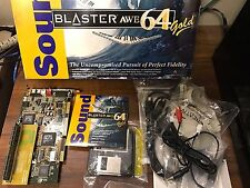 Sound Blaster AWE64 Gold CT4390 Complete in Box w/ SIMMConn RAM Expansion WORKS!