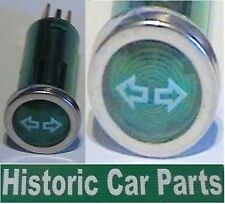 Dashboard mounted Indicator warning light Green 60-80s
