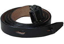 German MP40 BLACK LEATHER SLING - WW2 Repro Army Machine Gun Army Kit Strap